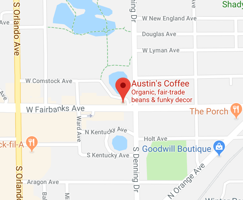 Map to Austins Coffee